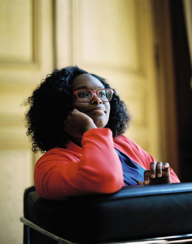 Sibeth Ndiaye, dans son bureau rue de Grenelle, àParis, le 28mai.
