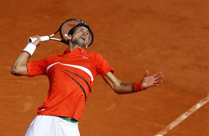 Novak Djokovic, à Roland Garros, Paris, le 6 juin 2019.