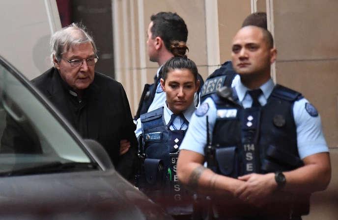 Le cardinal George Pell arrive à la Cour suprême de l'Etat de Victoria, àMelbourne, en Australie, le 6 juin.