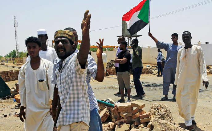 Manifestation à Khartoum, le 5 juin 2019, contre le Conseil militaire de transition.