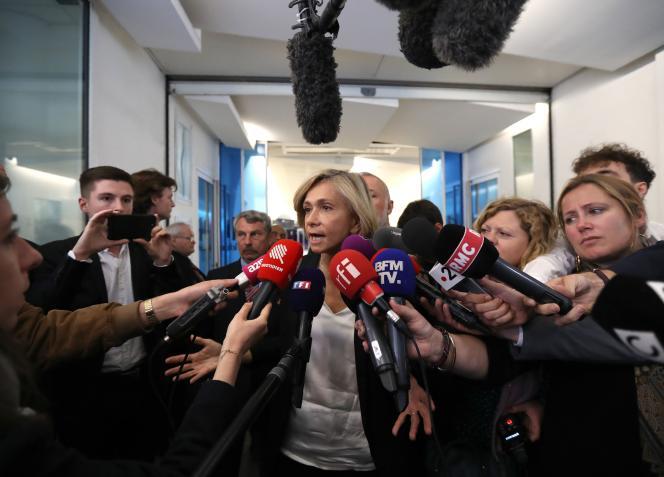 Valérie Pécresse au siège des Républicains à Paris, le 27 mai.
