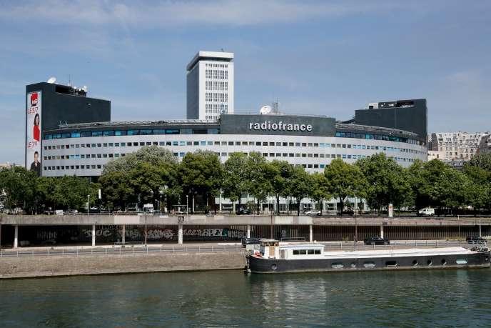 Le siège de Radio France, à Paris, le 1er juin.