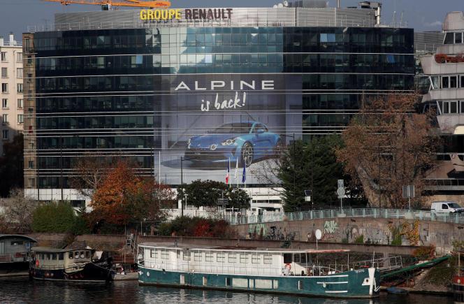 Le siège du groupe Renault, à Boulogne-Billancourt (Hauts-de-Seine), en novembre 2018.