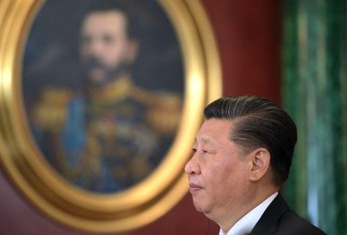 Le président chinois, Xi Jinping, lors de sa visite à Moscou, le 5 juin.