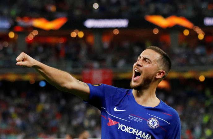 Eden Hazard lors de la victoire de Chelsea en finale de Ligue Europa, le 29 mai 2019 à Bakou.