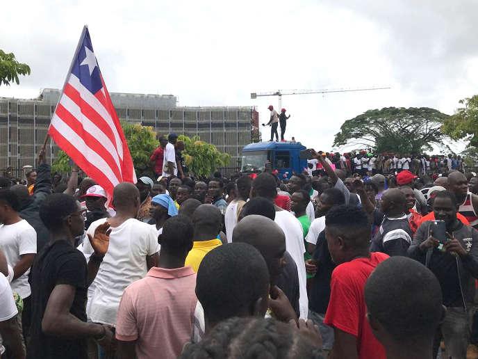 Vendredi 7 juin 2019, dans les rues de Monrovia.