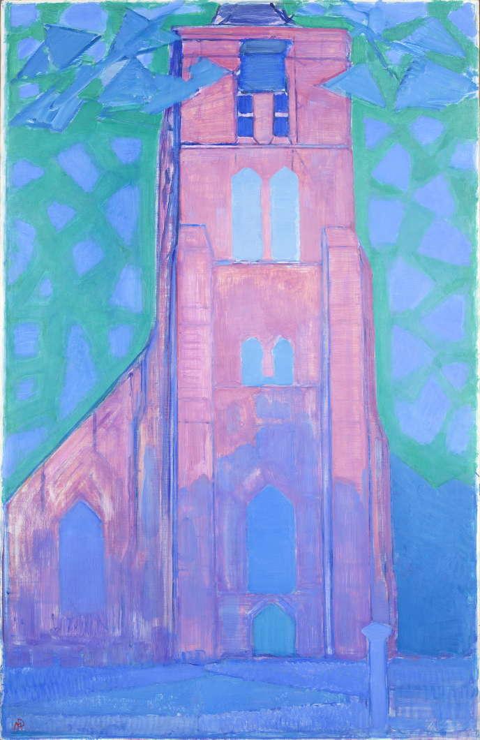 «Clocher en Zélande»(1911), dePiet Mondrian,huile sur toile.