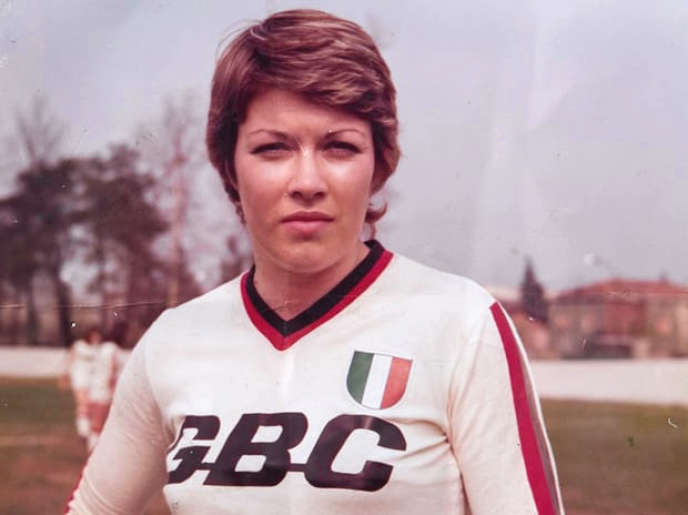 Rose Reilly in 1975 at the AC Milan Women's Club