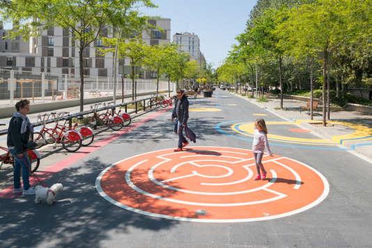 La«superilles» del Poblenou, quartier sans voiture de la capitale catalane, Barcelone.