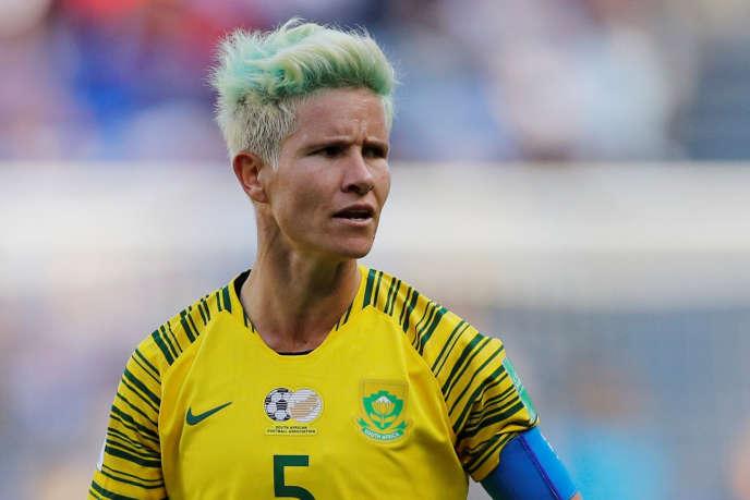 Janine van Wyk lors du premier match de poule face à l'Espagne, le 8 juin au Havre.