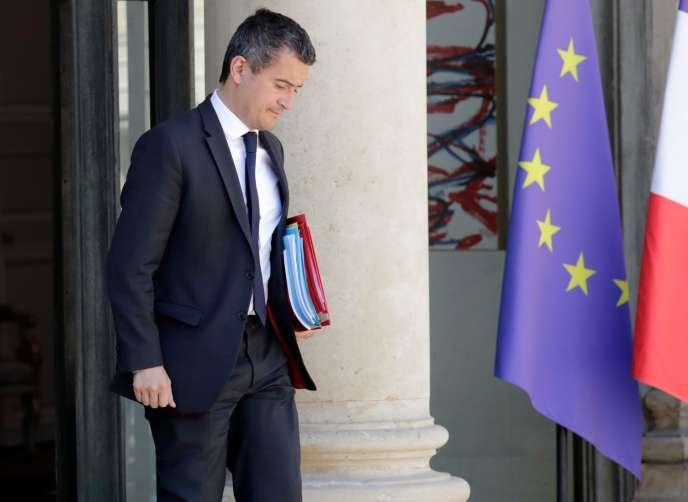 Le ministre de l'action et des comptes publics, Gérald Darmanin, à l'Elysée, à Paris, le 15 mai.
