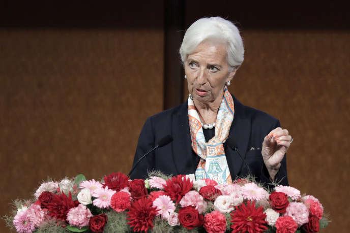 Christine Lagarde, le 8juin2019, àFukuoka, au Japon.
