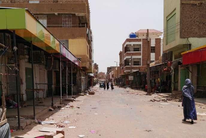 Les rues de Khartoum au premier jour de désobéissance civile, le 9 juin 2019.