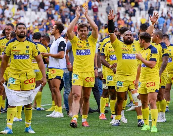 Les Clermontois, le 9 juin à Bordeaux, après leur qualification pour la finale du Top 14.