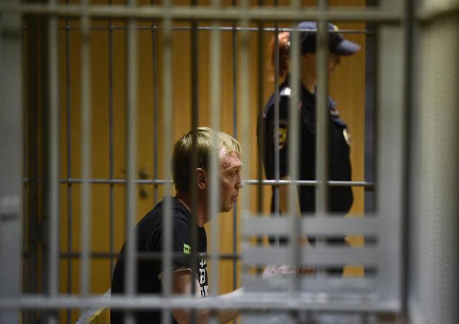 Le journaliste d'investigation russe Ivan Golounov, entendu au tribunal de Moscou, le 8 juin.
