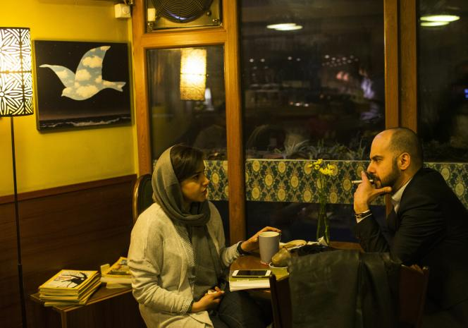 Dans un café de Téhéran, en Iran, en 2016.