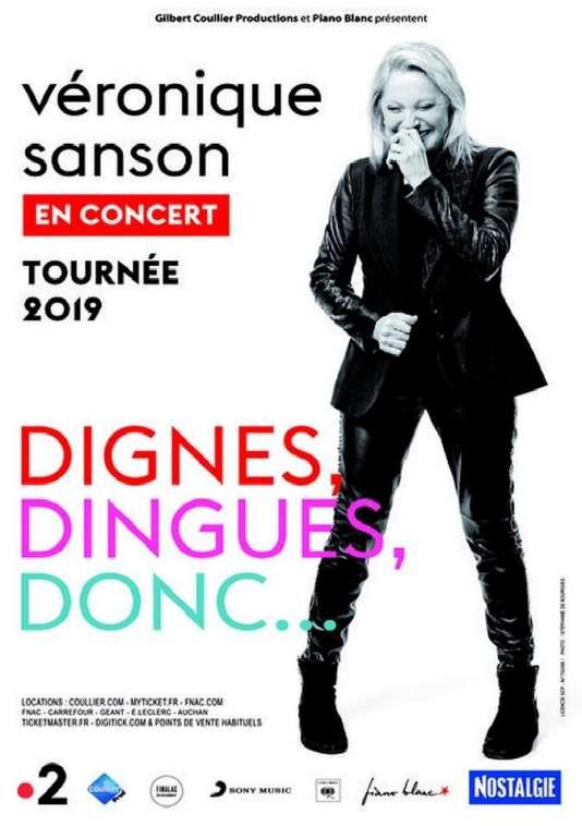Affiche de la tournée 2019 de Véronique Sanson.
