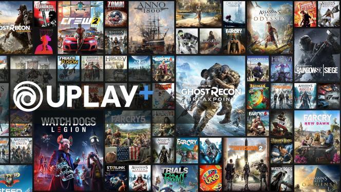 Le portail de jeux en illimité sur PC et sur Google Stadia, Uplay+, présenté par Ubisoft à l'E3 2019, lundi 10 juin.