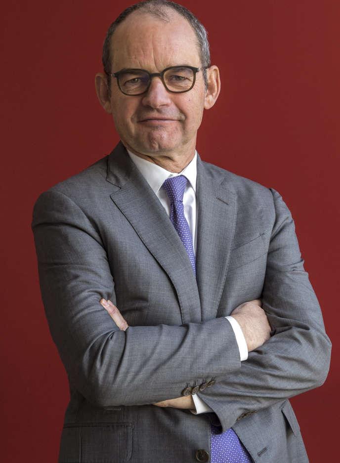 Patrick Jeantet, PDG de SNCF Réseau, à Paris, le 26 ajnvier 2017.
