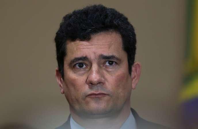 Le ministre de la justice du Brésil, Sergio Moro, le 10 juin à Manaus.