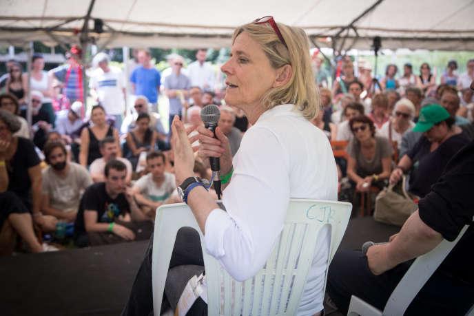 A Couthures-sur-Garonne, des journalistes des titres du Groupe Le Monde (ici, Florence Aubenas, en 2018) viennent à la rencontre du public.