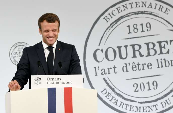 Emmanuel Macron, le 10 juin 2019 à Ornans.