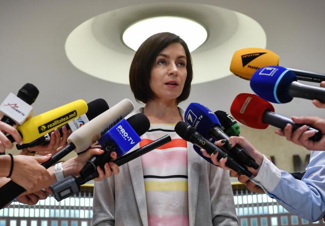 La première ministre Maia Sandu, le 10 juin.
