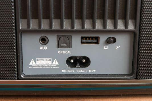 La Festival est équipée d'une entrée numérique optique, d'une entrée analogique 3,5mm et d'une entrée USB.