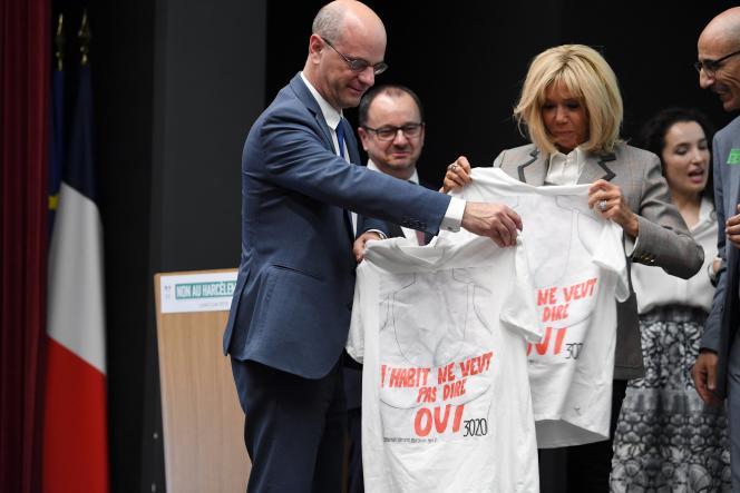 Jean-Michel Blanquer et Brigitte Macron le 3 juin 2019.