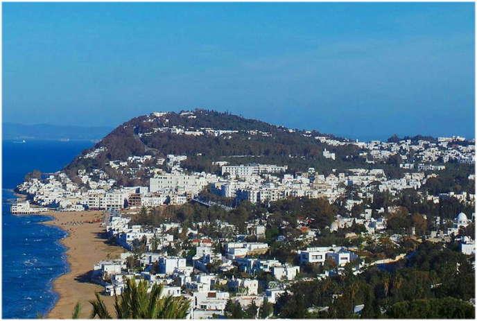 La ville de La Marsa,à une vingtaine de kilomètres au nord-est de Tunis.