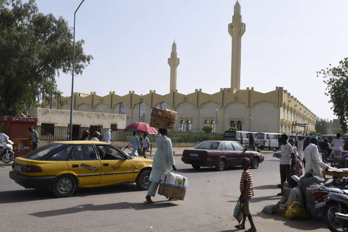 La grande mosquée de N'Djamena, capitale du Tchad.