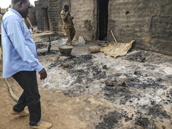 Dans le village dogon attaqué le 9 juin par une milice, près de Sangha, dans le centre du Mali.