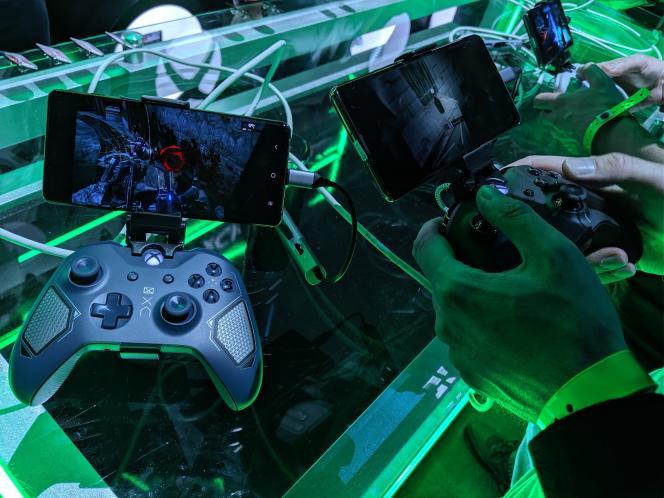 Démonstration du xCloud chez Microsoft, au salon E3 2019 du jeu vidéo.