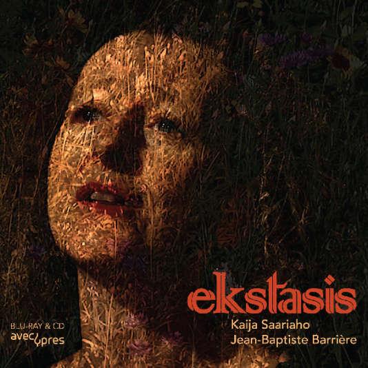 Pochette de l'album«Ekstasis», avec des œuvres de Kaija Saariaho et de Jean-Baptiste Barrière.