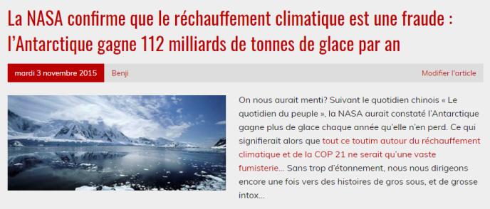 Oui, les glaces fondent, et c'est bien à cause duréchauffement climatique