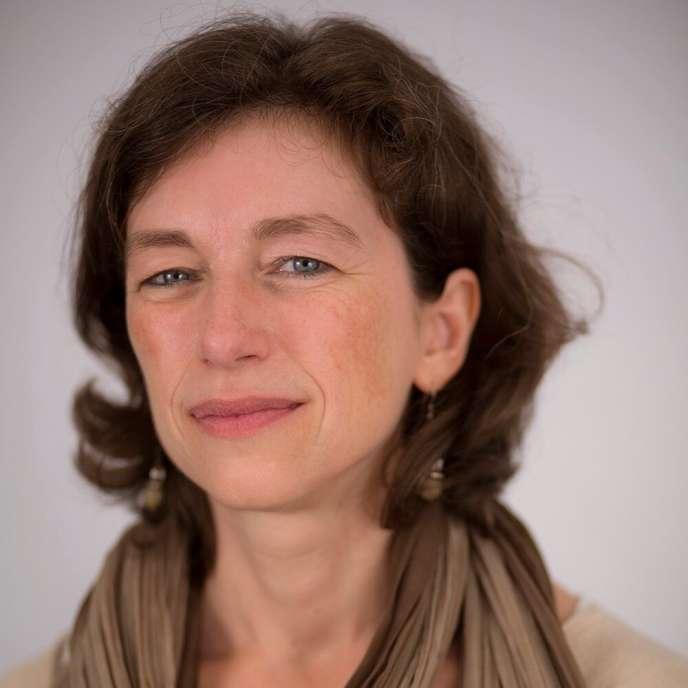 Marie-Paule Cani, professeure à l'Ecole polytechnique et spécialiste en informatique graphique 3D, en 2015, au Collège de France, à Paris.