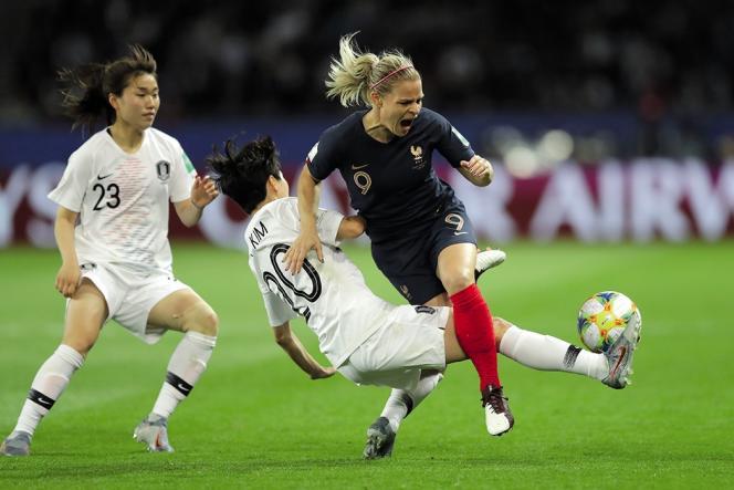 L'équipe de France a battu 4-0 la Corée du Sud lors dumatch d'ouverture de la Coupe du monde féminine, le 7 juin.