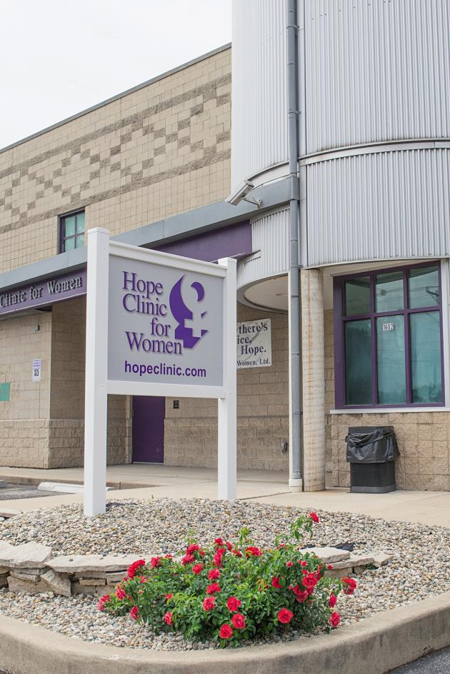 La Hope Clinic for Women, à Granite City dans l'Illinois, le 7 juin. Environ 4 000 femmes, dont 55 % viennent du Missouri voisin, se font avorter dans cet établissement chaque année.