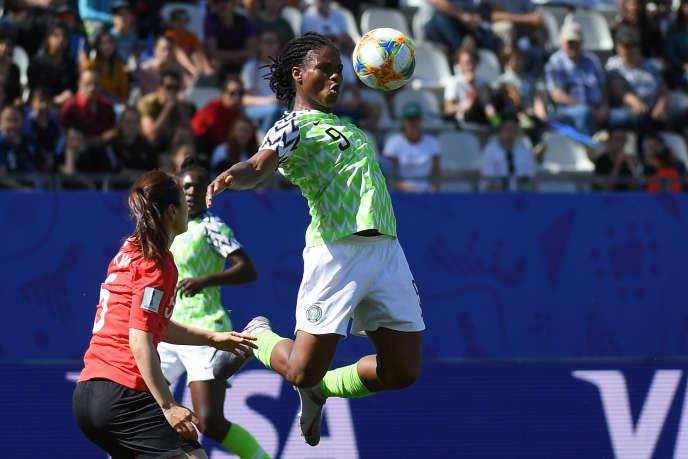 Lors du match Nigeria-Corée du Sud (2-0), le 12 juin 2019, au stade de Grenoble.