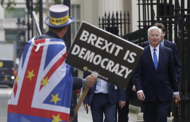 Un manifestant anti-Brexit à Londres, le 12 juin.