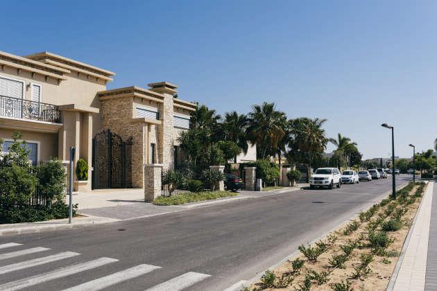 Des villas du quartier résidentiel de Harakia, à Césarée, le 29 mai.