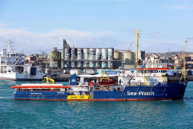 Le navire humanitaire «Sea-Watch 3» au port de Catane, en Italie, le 31 janvier 2019.