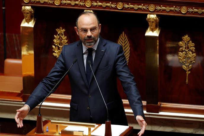 Edouard Philippe a prononcé son deuxième discours de politique générale à l'Assemblée nationale à Paris, le 12 juin.