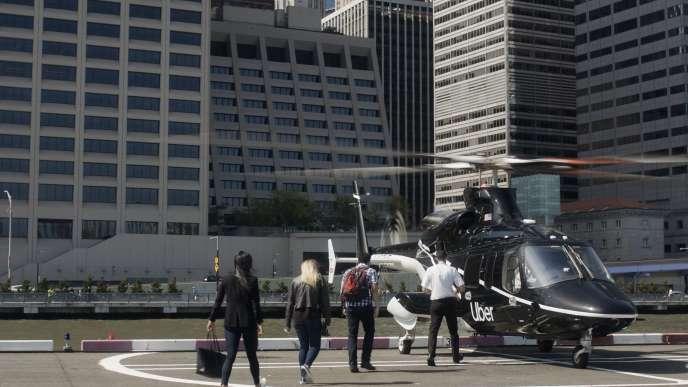 Une image diffusée par la société de transport Uber montre un « Ubercopter» à New York, le 5 juin.
