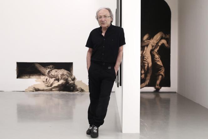 Ernest Pignon-Ernest, au Musée d'art moderne de Nice, en juin 2016.