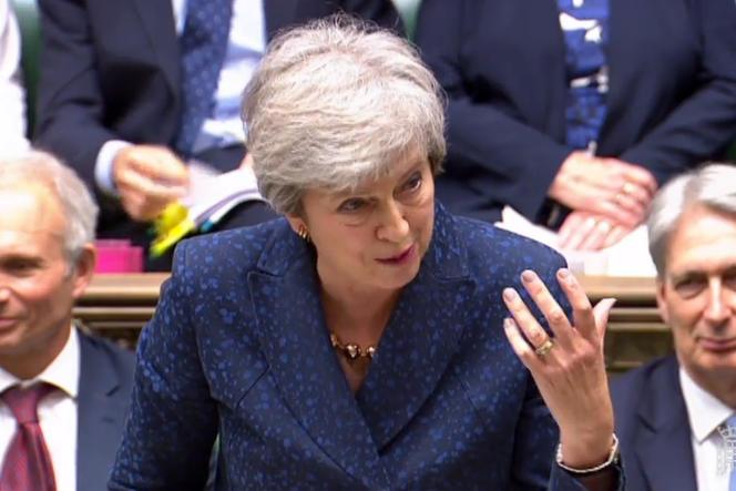 Theresa May à la Chambre des communes, le 12 juin à Londres.