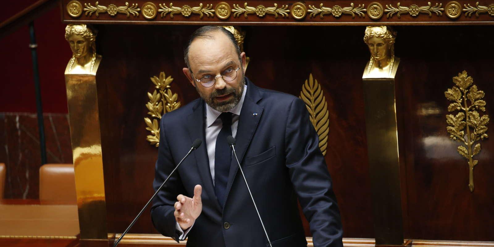 Edouard Philippe prononce son discours de politique générale à l'Assemblée nationale,mercredi 12juin.