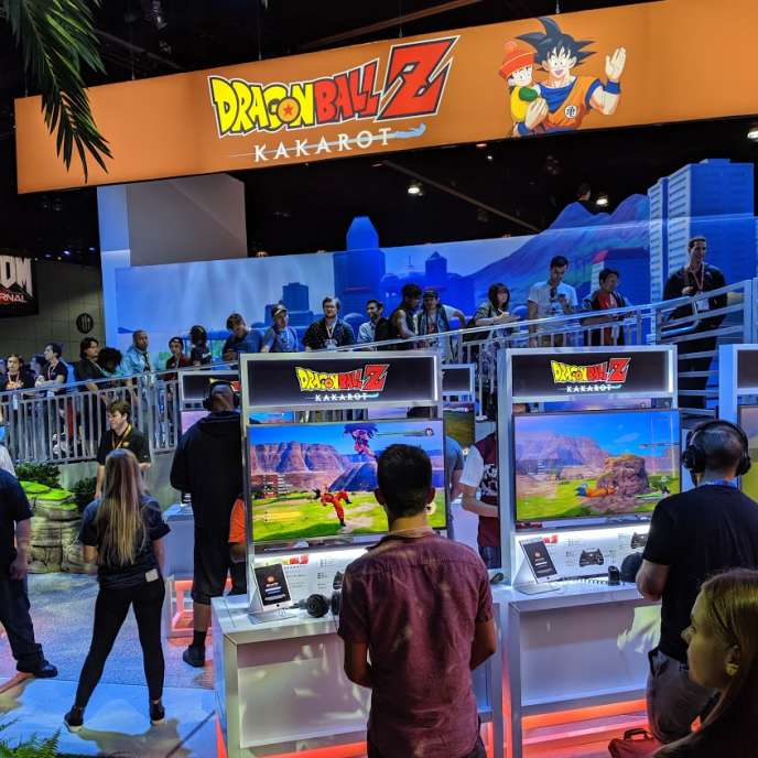La présentation de« Dragon Ball Z : Kakarot» à l'E3 2019, le salon du jeu vidéo de Los Angeles.