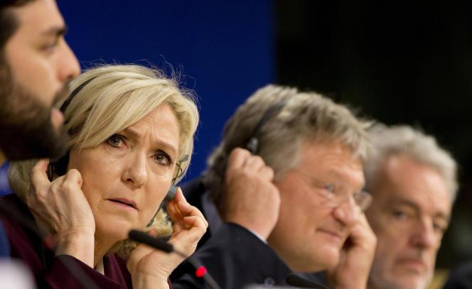 Marine Le Pen au Parlement européen, le 13juin.