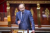 Le premier ministre Edouard Philippe lors de sa déclaration de politique générale à l'Assemblée nationale, mercredi 12 juin.